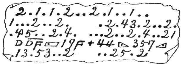 暗号紙片の図